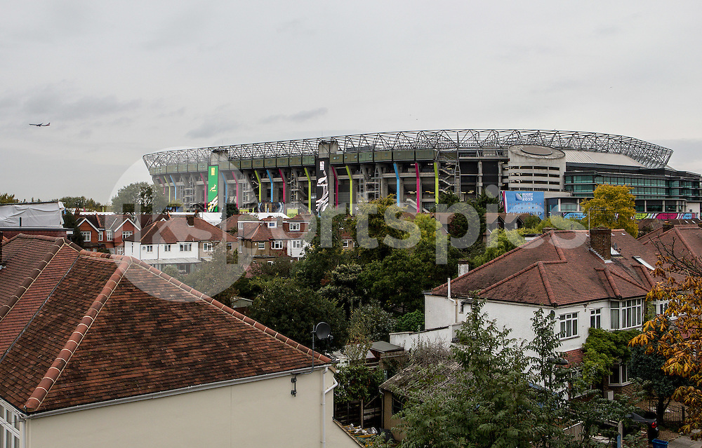 View of the Stadium prior to the Rugby World Cup Semi Final match between South Africa and New Zealand played at Twickenham Stadium, London on the 24th of October 2015. Photo by Liam McAvoy