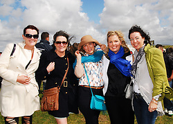 Enjoying the the festival on Doolough strand, Rachel O' Mahony, Michelle O' Mahony, Michelle Barrett- Manning, Linda Barrett and Denise Manning...Pic Conor McKeown