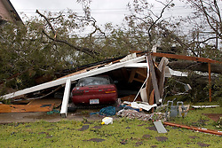 24 Sept, 2005.  Orange, Texas.  Hurricane Rita aftermath. <br /> <br /> Damage to a residence in the small town of Orange.<br /> Photo; ©Charlie Varley/varleypix.com