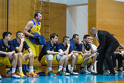 Keselj Igor head coach of KK Sencur GGD and players during basketball match between KK Sencur  GGD and KK Tajfun Sentjur for Spar cup 2016, on 16th of February , 2016 in Sencur, Sencur Sports hall, Slovenia. Photo by Grega Valancic / Sportida.com