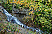PICTURED ROCKS NATIONAL LAKESHORE - October 2016: Chapel Falls is seen on an early fall afternoon during October in Pictured Rocks National Lakeshore near Munising, Michigan in the Upper Peninsula. <br />