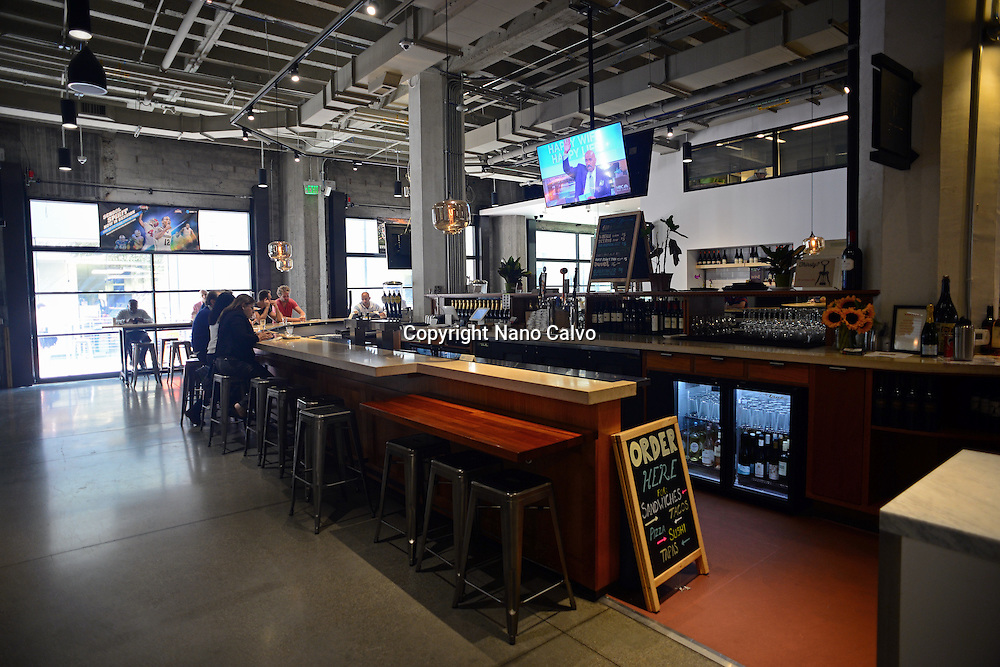The Market, Industrial-style food hall in Market Street, San Francisco.