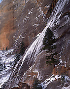 Virgin River Canyon, Virgin River, Sandstone Canyon, Canyon, Sandstone, Winter, Ice, Snow, Zion, Zion National Park, Utah