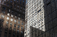 New York. Mobil building and Chanin building art deco on 42nd street and lexington  New York - United states  /  le Mobil building et le Chanin buildingsur la 42 me rue   New York - Etats-unis