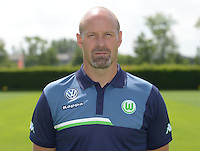 German Soccer Bundesliga 2015/16 - Photocall of VfL Wolfsburg on 16 July 2015 at the Volkswagen-Arena in Wolfsburg, Germany: goalkeeping-coach Andreas Hilfiker