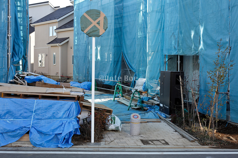 new houses under construction at the development project Fujisawa Sustainable Smart Town Kanagawa Japan