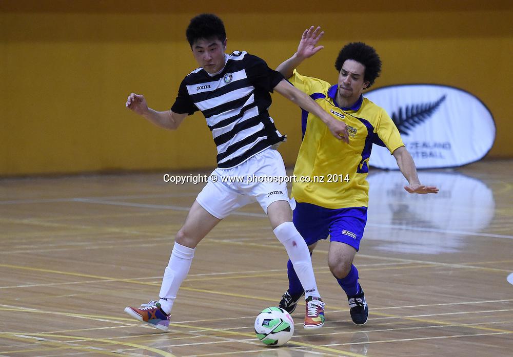 Bo Wang of Northern Futsal in action against Futsal South. National Futsal League, Series 3. ASB Stadium, Auckland, New Zealand. Friday 5 December 2014. Photo: Andrew Cornaga/photosport.co.nz