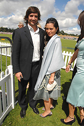 Polo player HENRY BRETT and ARABELLA FOSTER at the final of the Veuve Clicquot Gold Cup 2007 at Cowdray Park, West Sussex on 22nd July 2007.<br /><br />NON EXCLUSIVE - WORLD RIGHTS