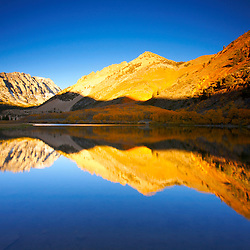 North Lake at sunrise in autumn in the Eastern Sierra Nevada Mountains near Bishop, CA.