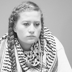 September 28, 2018 - Madrid, Spain - Paliestinian activist Ahed Tamimi during their meeting at Casa de la Villa in Madrid, Spain, 28 September 2018. (Credit Image: © Oscar Gonzalez/NurPhoto/ZUMA Press)
