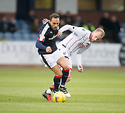 Dundee&rsquo;s Tom Hateley and Ross County&rsquo;s Liam Boyce - Dundee v Ross County in the Ladbrokes Scottish Premiership at Dens Park, Dundee. Photo: David Young<br /> <br />  - &copy; David Young - www.davidyoungphoto.co.uk - email: davidyoungphoto@gmail.com