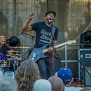Ayron Jones and the Way performing at Solstice Music Festival, Fremont Fair 2015.