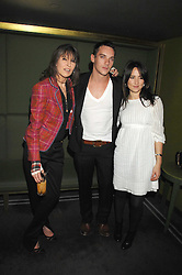 Left to right, CHRISSIE HYNDE, JONATHAN RHYS MEYERS and KT TUNSTALL at 'Not Another Burns Night' in association with CLIC Sargebt and Children's Hospice Association Scotland held at ST.Martins Lane Hotel, London on 3rd March 2008.<br />