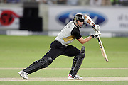 Dubai UAE. Ian Butler taking a safety shot during the first ICC Twenty20 (Twenty Twenty) match between Pakistan and New Zealand held at the Dubai International Cricket Stadium on the 12th November 2009. Photo By Francois Steenkamp/SPORTDXB