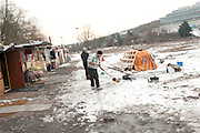 20 roma families live in makeshift huts in a Roma camp in Petit Clamart, south of Paris. The children here do not go te school. 06-02-2012