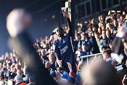 Elvis Bwomono of Southend United celebrates survival - Mandatory by-line: Arron Gent/JMP - 04/05/2019 - FOOTBALL - Roots Hall - Southend-on-Sea, England - Southend United v Sunderland - Sky Bet League One