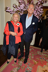 DAME VIVIEN DUFFIELD and CHARLES DELEVINGNE at the Tatler Best of British party in association with Jaegar held at The Ritz, Piccadilly, London on 28th April 2015.