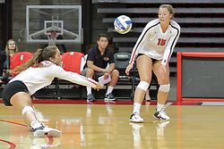 19 August 2017:  Elianna Lovejoy during a college women's volleyball match Scrimmage of the Illinois State Redbirds at Redbird Arena in Normal IL (Photo by Alan Look)