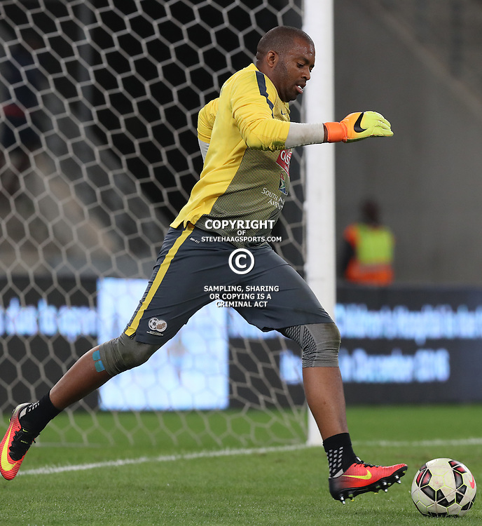 Itmeleng Khune G/K of South Africa during the international friendly match between South Africa ( Bafana Bafana ) and Ghana at the Moses Mabhida stadium in Durban, South Africa on the 11th October 2016<br /> <br /> Photo by:   Steve Haag / Real Time Images
