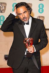 © Licensed to London News Pictures. 14/02/2016. London, UK. ALEJANDRO GONZALEZ INARRITU arrives carpet for the EE British Academy Film Awards 2016 after party held at Grosvenor House . London, UK. Photo credit: Ray Tang/LNP Photo credit: Ray Tang/LNP