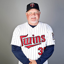 Feb 19, 2013; Fort Myers, FL, USA; Minnesota Twins manager Ron Gardenhire (35) poses for a portrait during photo day at Hammond Stadium. Mandatory Credit: Derick E. Hingle-USA TODAY Sports