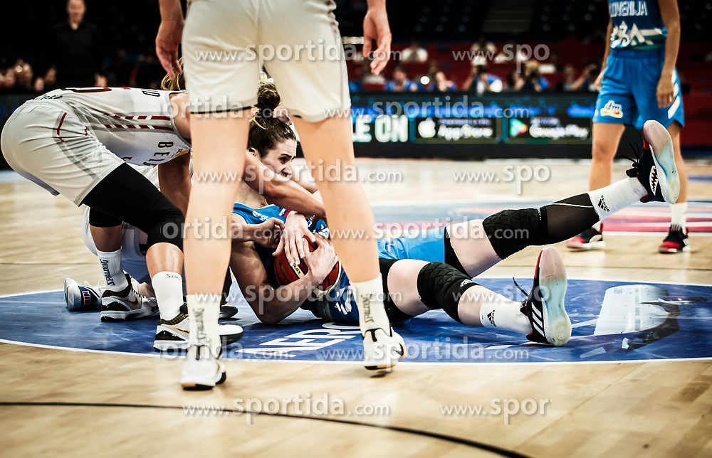 Eva Lisec of Slovenia during basketball match between Women National teams of Belgium and Slovenia in the Qualification for the Quarter-Finals of Women's Eurobasket 2019, on July 2, 2019 in Belgrade Arena, Belgrade, Serbia. Photo by Vid Ponikvar / Sportida