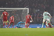 17 Ryan Christie scores the only goal during the Betfred Cup Final between Celtic and Aberdeen at Hampden Park, Glasgow, United Kingdom on 2 December 2018.