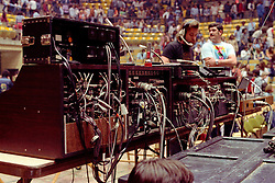 Rear view of the Sound Board at the Grateful Dead Concert at William and Mary College Hall 15 April 1978