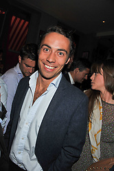 JAMES MIDDLETON brother of HRH The Duchess of Cambridge at a party to celebrate the opening of Bunga Bunga - a new Pizzeria & Bar, 37 Battersea Bridge Road, London SW11 on 1st September 2011.