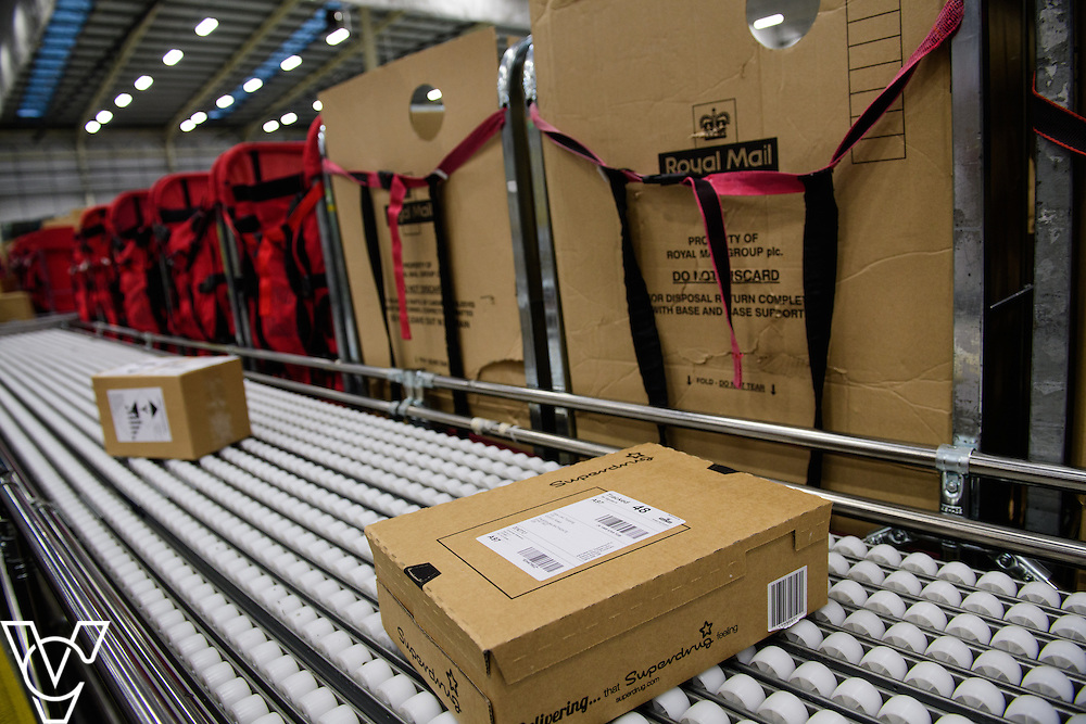 Stock / generic photographs taken at the Royal Mail's Yorkshire Distribution Centre, Normanton. <br /> <br /> Parcel processing <br /> <br /> Picture: Chris Vaughan Photography<br /> Date: November 15, 2016