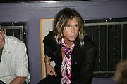 STEVE TYLER ( AEROSMITH ), Mac Viva Glam party to celebrate the M.A.C. Aids Fund. the Bloomsbury Ballroom. Victoria House. London. 27 June 2007.  -DO NOT ARCHIVE-© Copyright Photograph by Dafydd Jones. 248 Clapham Rd. London SW9 0PZ. Tel 0207 820 0771. www.dafjones.com.