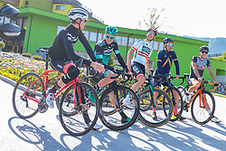 25.04.2018, Bad Häring, AUT, ÖRV Trainingslager, UCI Straßenrad WM 2018, im Bild Michael Gogl (AUT), Patrick Konrad (AUT), Gregor Mühlberger (AUT), Stefan Denifl (AUT), Mario Gamper (AUT) // during a Testdrive for the UCI Road World Championships in Bad Häring, Austria on 2018/04/25. EXPA Pictures © 2018, PhotoCredit: EXPA/ JFK