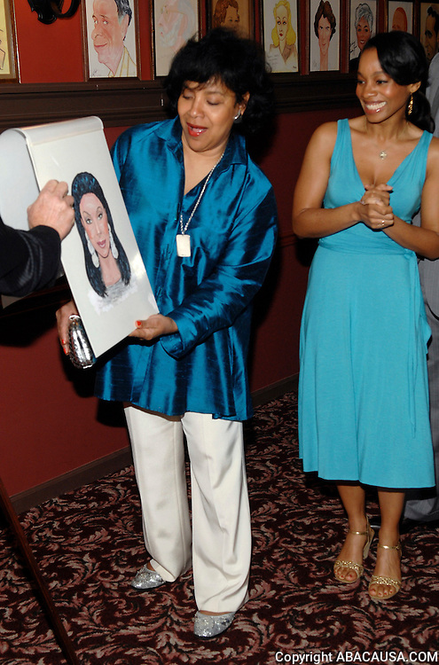 Actors Phylicia Rashad and Anika Noni Rose at Sardi's Restaurant as Cat On A Hot Tin Roof cast members are inducted to the 'Wall Of Fame' in Times Square New York City, USA on May 8, 2008.