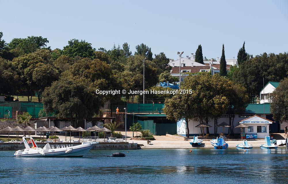 Zischka Tennis Camp Lanterna, Novigrad, Istrien, Kroatien<br /> <br /> travel - Zischka Tennis Camp Lanterna -  -  Hotel Valamar - Novigrad -  - Croatia  - 18 May 2015. <br /> &copy; Juergen Hasenkopf
