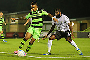 Forest Green Rovers Keanu Marsh-Brown (7) on the ball during the Vanarama National League match between Forest Green Rovers and Eastleigh at the New Lawn, Forest Green, United Kingdom on 13 September 2016. Photo by Shane Healey.