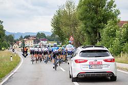 09.07.2019, Frohnleiten, AUT, Ö-Tour, Österreich Radrundfahrt, 3. Etappe, von Kirchschlag nach Frohnleiten (176,2 km), im Bild UCI Kommisär hinter Peloton // UCI Kommisär hinter Peloton during 3rd stage from Kirchschlag to Frohnleiten (176,2 km) of the 2019 Tour of Austria. Frohnleiten, Austria on 2019/07/09. EXPA Pictures © 2019, PhotoCredit: EXPA/ Johann Groder