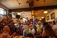 Caledonian Pipe Band, dancers on the bar, Glenns Food and Spirits, Livingston, Montana, 4th of July, celebration, John Fryer