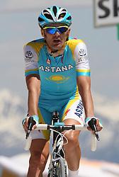 25/05/2010 Etape 16 - 93? GIRO D'ITALIA - Tour d'Italie - Contre la montre individuelle 12,9 km. San Vigilio Di Marebbe - Plan De Corones, Italy. .© Photo Pierre Teyssot / Sportida.com. STANGELJ Gorazd SLO AST during the time trial, 16th stage on 25/05/2010, 2010 in Plan de Corones, Kron Platz, Italy.