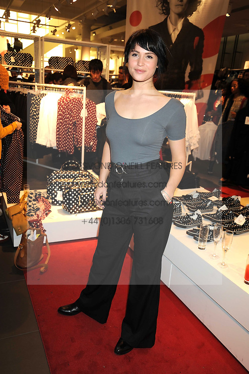 Actress GEMMA ARTERTON at a preview of the H&M Comme des Garcons collection held at H&M Regent Stret, London on 12th November 2008.