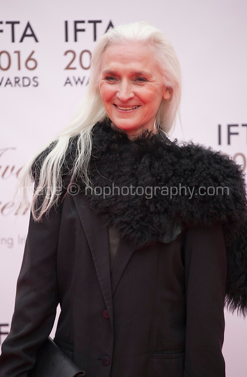 Actress Olwen Fouéré at the IFTA Film & Drama Awards (The Irish Film & Television Academy) at the Mansion House in Dublin, Ireland, Saturday 9th April 2016. Photographer: Doreen Kennedy