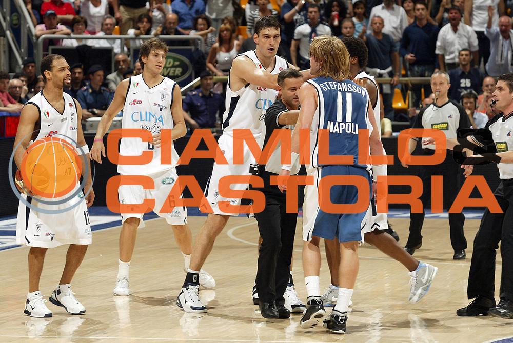 DESCRIZIONE : Associazione Italiana Arbitri Pallacanestro Lega A1 2005-06 Play Off Semifinale Gara 5 <br /> GIOCATORE : Arbitro Garris Mancinelli Bagaric Stefansson Rissa <br /> SQUADRA : Climamio Fortitudo Bologna Carpisa Napoli <br /> EVENTO : Campionato Lega A1 2005-2006 Play Off Semifinale Gara 5 <br /> GARA : Climamio Fortitudo Bologna Carpisa Napoli <br /> DATA : 11/06/2006 <br /> CATEGORIA : Dellusione <br /> SPORT : Pallacanestro <br /> AUTORE : Agenzia Ciamillo-Castoria/E.Pozzo <br /> Galleria : Aiap 2005-2006 <br /> Fotonotizia : Associazione Italiana Arbitri Pallacanestro Campionato Italiano Lega A1 2005-2006 Play Off Semifinale Gara 5 <br /> Predefinita :
