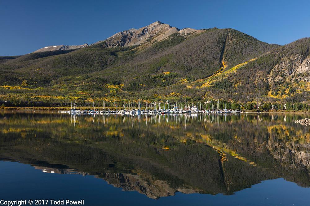 Frisco Bay Marina on Lake Dillon, Frisco, Colorado, Autumn