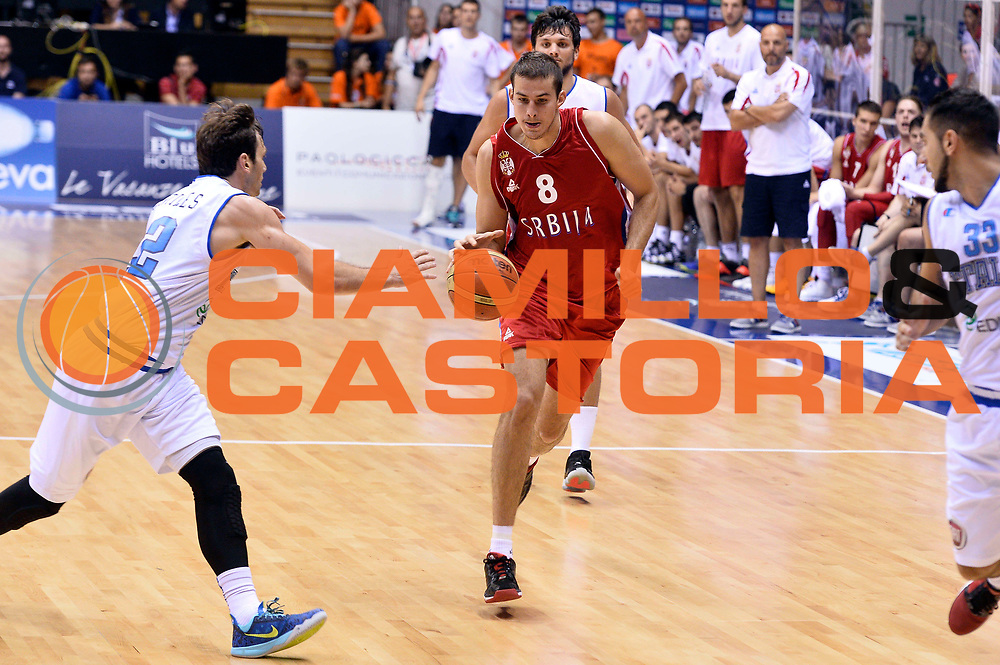 DESCRIZIONE : Trieste Nazionale Italia Uomini Torneo internazionale Italia Serbia Italy Serbia<br /> GIOCATORE : Nemanja Bjelica<br /> CATEGORIA : Palleggio <br /> SQUADRA : Serbia Serbia<br /> EVENTO : Torneo Internazionale Trieste<br /> GARA : Italia Serbia Italy Serbia<br /> DATA : 05/08/2014<br /> SPORT : Pallacanestro<br /> AUTORE : Agenzia Ciamillo-Castoria/GiulioCiamillo<br /> Galleria : FIP Nazionali 2014<br /> Fotonotizia : Trieste Nazionale Italia Uomini Torneo internazionale Italia Serbia Italy Serbia