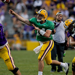 18 April 2009: LSU Tigers quarterback Chris Garrett passes the ball during the 2009 LSU spring football game at Tiger Stadium in Baton Rouge, LA.