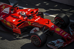 March 10, 2017 - Montmelo, Catalonia, Spain - KIMI RAIKKONEN (FIN) in his Ferrari SF70H at the pit stop at day 8 of Formula One testing at Circuit de Catalunya (Credit Image: © Matthias Oesterle via ZUMA Wire)