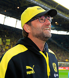 15.02.2014, Signal Iduna Park, Dortmund, GER, 1. FBL, Borussia Dortmund vs Eintracht Frankfurt, 21. Runde, im Bild Trainer Juergen Klopp (Borussia Dortmund) gut gelaunt am Lachen, Emotion, Freude, Glueck // during the German Bundesliga 21th round match between Borussia Dortmund and Eintracht Frankfurt at the Signal Iduna Park in Dortmund, Germany on 2014/02/15. EXPA Pictures © 2014, PhotoCredit: EXPA/ Eibner-Pressefoto/ Schueler<br /> <br /> *****ATTENTION - OUT of GER*****