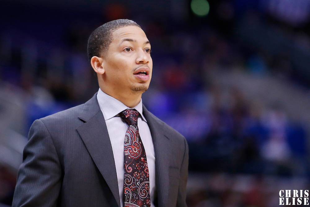 23 October 2013: Clippers assistant coach Tyronn Lue is seen during the Los Angeles Clippers 103-99 victory over the Utah Jazz at the Staples Center, Los Angeles, California, USA.