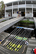Boston, Massachusetts, USA. Early morning training session, on thursday 19/10/2006 , Crews boating from the, Riverside Rowing Club. Preparing for the, 2006, Head of the Charles,  Photo  Peter Spurrier/Intersport Images...[Mandatory Credit, Peter Spurier/ Intersport Images] Rowing Course; Charles River. Boston. USA