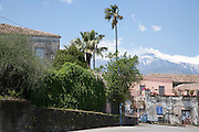 Village on the slopes of Mount Etna, eastern Sicily