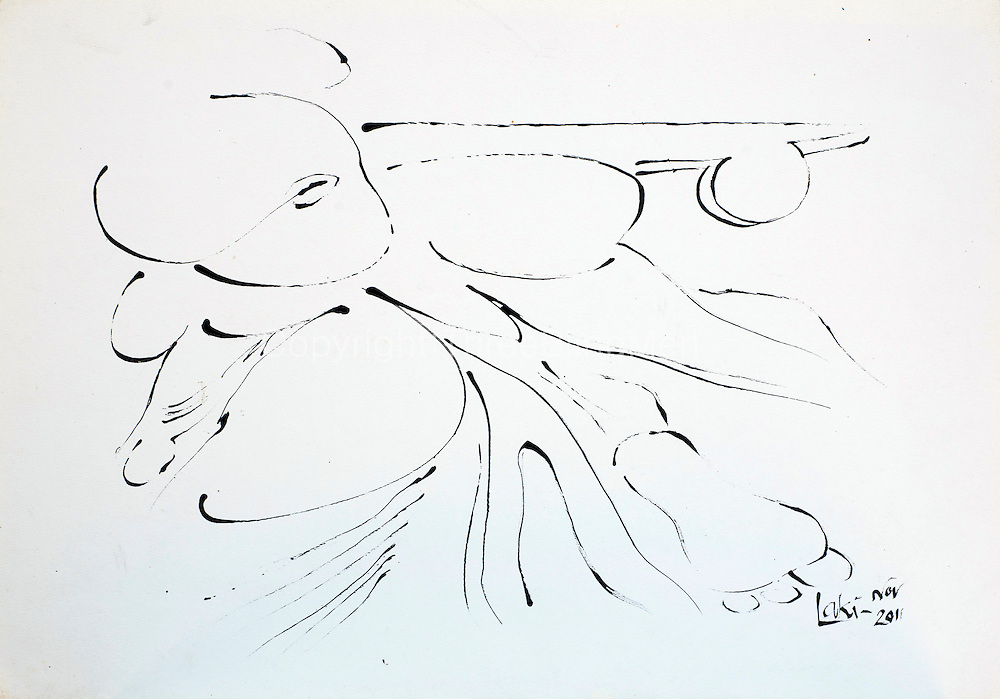 Laki Senanayake. No.2 Ink on paper. 2011